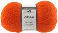 Пряжа Admiral, 100 гр., цвет 0891 оранжевый