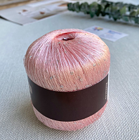 Пайетки (PAILLETTES, 100% Полиамид, 7.20м/1г) 044 - розовый жемчуг (моток 50г)