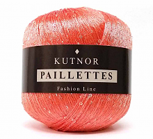 Пайетки (PAILLETTES, 100% Полиамид, 7.20м/1г) 023 - ярко-розовый (моток 50г)