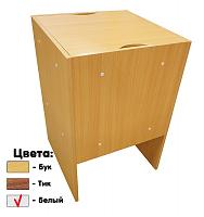 Тумба для хранения оверлока KD Sewing Storage, (белый; тик; бук)