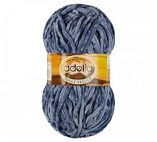 Долли Велюр 40 серо-голубой