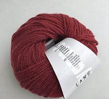 Novena Lang Yarns (Новена) 0075 темно-красный