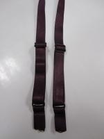 Бретели для бюстгальтера пришивные, цвет баклажан , 15мм