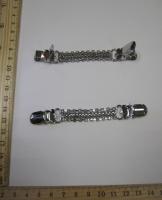 Застежка на кардиган, 105х13 мм, серебро
