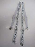 Бретели для бюстгальтера серебро, 10мм