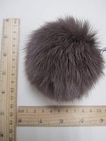 Помпон из меха кролика, капучино, 95 мм.