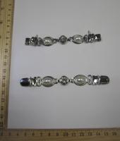 Застежка на кардиган, 122х15 мм, серебро