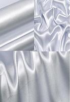 Креп-сатин, цвет бледно-васильковый