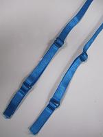 Бретели для бюстгальтера пришивные, цвет голубой , 10мм