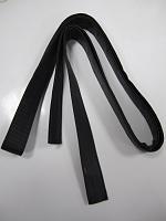 Ручка сумочная плоская черная, 197см