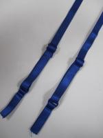 Бретели для бюстгальтера пришивные, цвет синий , 10мм