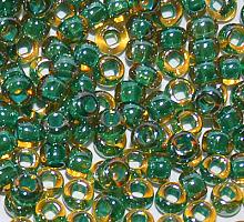 Бисер прозрачный с цветной линией 11024