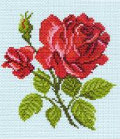 "Канва с рисунком 20х22см Матренин посад ""Красная роза"""