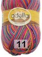 Adelia «MIA PRINT» № 11 синий-т.розовый-оранжевый-салатовый