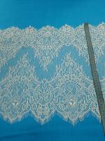 Кружевная ткань белая, 45 х 150 см.