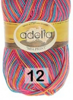 Adelia «MIA PRINT» № 12 яр.голубой-оранжевый-яр.розовый