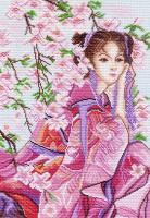 """Рисунок на канве 37х49см арт.1153 """"Розовые мечты"""""""