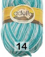 Adelia «MIA PRINT» № 14 белый-яр.голубой