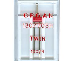 Иглы для бытовых швейных машин Organ двойные 100/4 в пенале