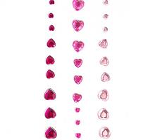 Клеевые стразы сердечки розовая гамма 27шт