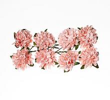 Астры из бумаги нежно-розовые, 8 шт