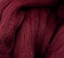 Пряжа LG_Wool (ЛГ Шерсть) для валяния 100% шерсть 100 г  0013 бордо