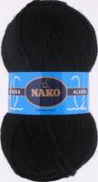 Пряжа ALASKA Nako, цвет 7102 черный