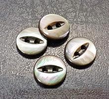 Пуговица на прокол перламутр, ракушка, 9 мм