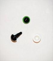 Глаза кристальные зеленые с шайбами