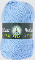 Пряжа Vita Brilliant, цвет 4967 светло-голубой