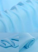 Креп-сатин, цвет голубой