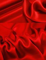Креп-сатин, цвет красный