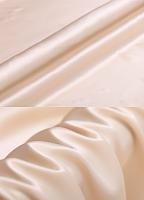 Креп-сатин, цвет кремовый