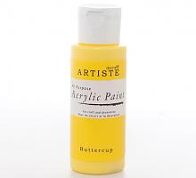 Краска акриловая ARTISTE желтый