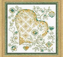 """Набор для вышивания арт.СС-1353 """"Золотое сердце"""" 10х10 см"""