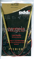 Спицы, круговые, с удлиненным кончиком, позолоченные, №5, 60 см