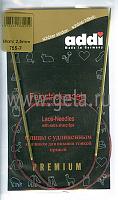 Спицы, круговые, с удлиненным кончиком, позолоченные, №2,5, 60 см