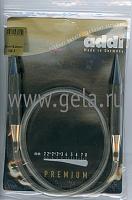 Спицы, круговые, супергладкие, никель, №15, 80 см