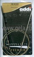 Спицы, круговые, супергладкие, никель, №4, 80 см.