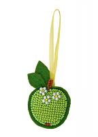 """Набор для вышивания арт.СС-1482АС """"Зеленое яблочко"""" 4х6 см"""
