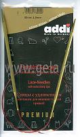 Спицы, круговые, с удлиненным кончиком, позолоченные, №4, 60 см