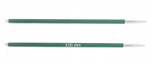 """Спицы короткие """"Zing"""" 3мм для длины тросика 20 см"""