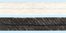 Тесьма клеевая косая с петельным швом белый