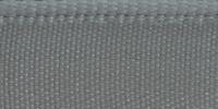 Молния RIRI металл. GO, 4 мм, 16 см, на атласной тесьме, 1замок разъемн., FLASH сине-серый
