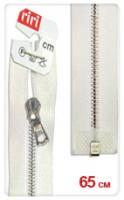 Молнии RIRI металл. Ni, 4 мм, 65 см, на атласной тесьме, 1замок разъемн., FL