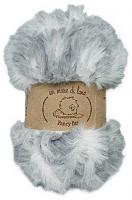 Пряжа Fancy fur (Фанси фе), цвет 9980 серо-белый