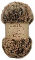 Пряжа Fancy fur (Фанси фе), цвет 9979 шоколадно-бежевый