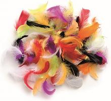Декоративные перья ассорти 2г, 30шт