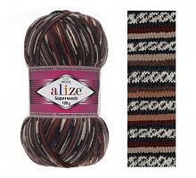 Alize SUPERWASH 100 6766-коричнево-винный