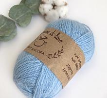 Пряжа Рэббит ангора (Rabbit Angora), цвет 05 голубая фиалка